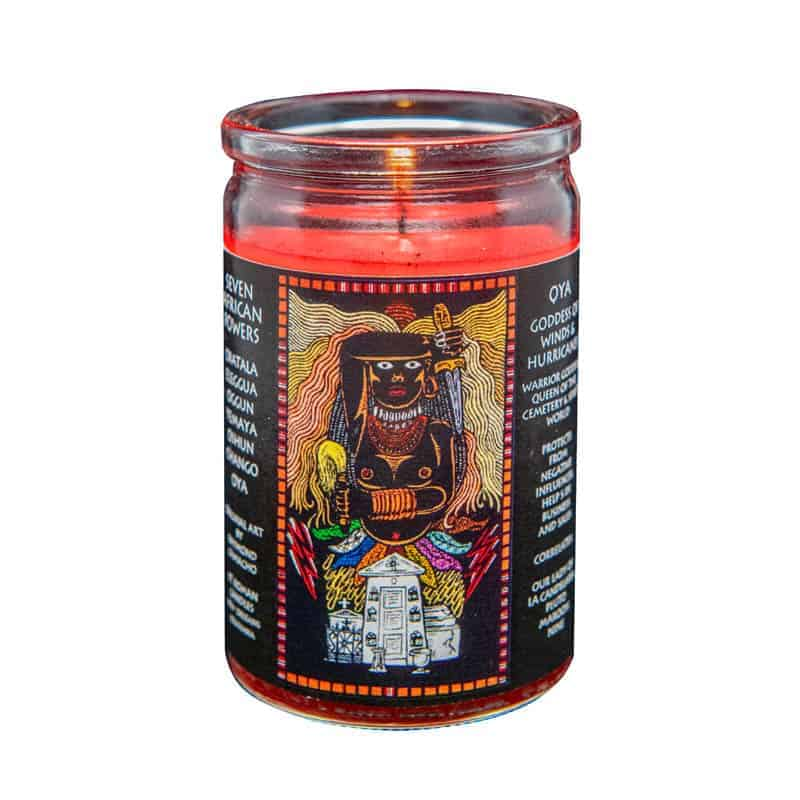Oya seven african powers voodoo candle